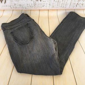 4for$15 Old Navy The Flirt gray skinny jeans sz 16
